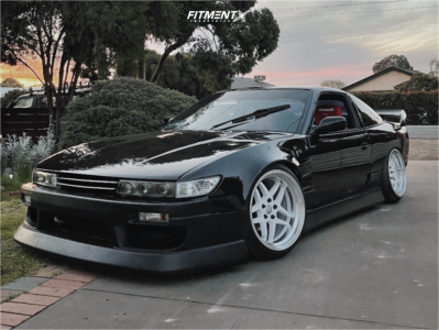 1993 Nissan 240SX - 18x10.5 15mm - 326 Power Yabaking Spoke - Coilovers - 235/35R18