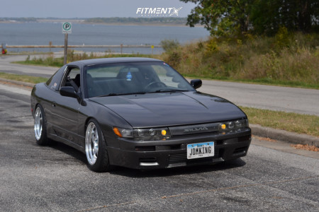 1990 Nissan 240SX - 17x9 12mm - Work Meister S1r - Coilovers - 225/45R17