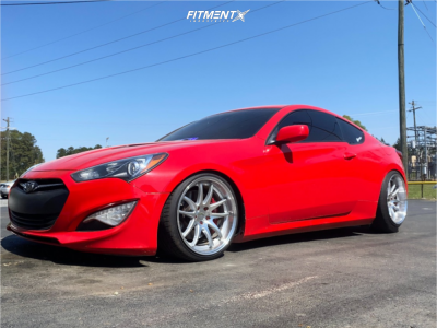 2013 Hyundai Genesis Coupe - 19x9.5 15mm - Aodhan Ds02 - Coilovers - 235/35R19