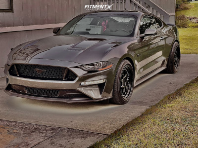 2020 Ford Mustang - 19x9.5 15mm - Aodhan Ds01 - Stock Suspension - 255/40R19
