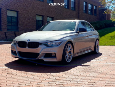 2017 BMW 330i xDrive - 19x8.5 35mm - Aodhan Aff7 - Coilovers - 225/40R19