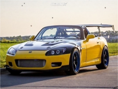 2002 Honda S2000 - 18x8 35mm - Work Meister S1 3p - Coilovers - 235/40R18