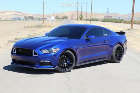 2016 Ford Mustang - 19x9.5 35mm - AVID1 Av20 - Lowering Springs - 255/35R19