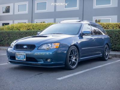 2005 Subaru Legacy - 18x8 45mm - Enkei Raijin - Lowering Springs - 235/40R18