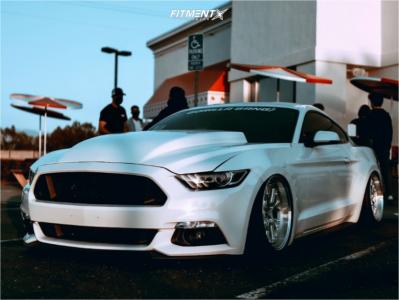 2016 Ford Mustang - 19x10.5 15mm - ESR Cs11 - Air Suspension - 265/30R19