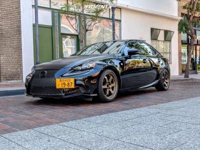 2015 Lexus IS250 - 18x8 35mm - AVID1 Av06 - Lowering Springs - 225/40R18
