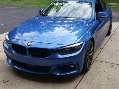 2018 BMW 440i xDrive - 19x8.5 35mm - Aodhan Aff7 - Stock Suspension - 235/35R19