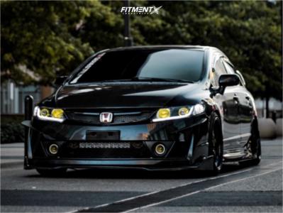 2009 Honda Civic - 18x9 25mm - Cosmis Racing Xt-005r - Coilovers - 225/40R18