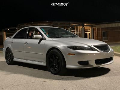 2005 Mazda 6 - 17x8 35mm - AVID1 Av6 - Stock Suspension - 225/50R17