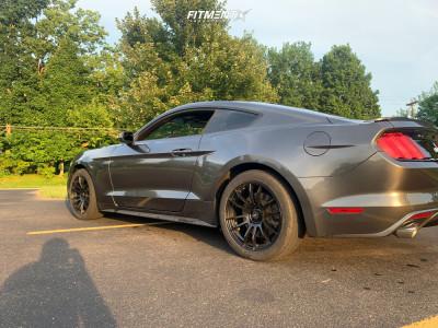 2016 Ford Mustang - 18x8.5 35mm - AVID1 Av20 - Stock Suspension - 245/45R18