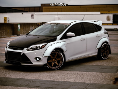 2012 Ford Focus - 18x8.5 35mm - 9SiX9 Six-1 - Coilovers - 225/40R18