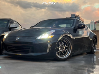 2014 Nissan 370Z - 19x9.5 22mm - Aodhan Ds01 - Coilovers - 245/35R19