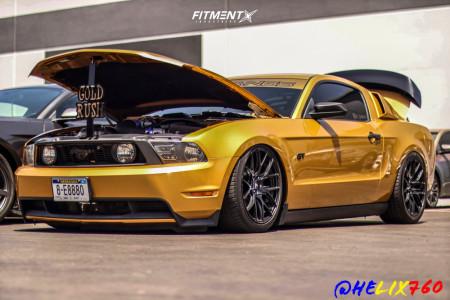 2010 Ford Mustang - 19x9.5 35mm - SVE Drift - Air Suspension - 255/40R19