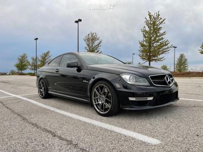 2015 Mercedes-Benz C63 AMG - 19x8.5 40mm - Ace Wheels Aff02 - Stock Suspension - 235/35R19
