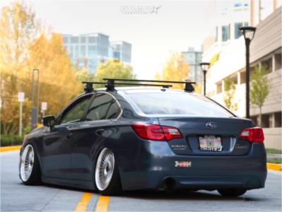 2015 Subaru Legacy - 19x9.5 45mm - Work Emitz - Coilovers - 225/35R19
