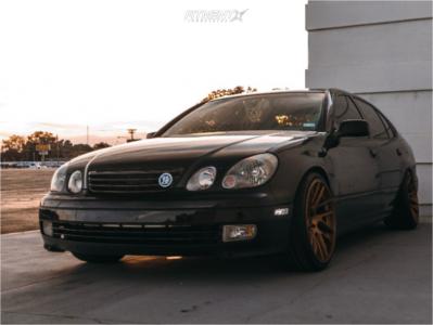 2003 Lexus GS300 - 19x9.5 15mm - Artisa ArtFormed Elder - Coilovers - 235/35R19