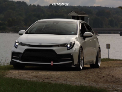 2020 Toyota Corolla - 18x9.5 35mm - Aodhan Ds08 - Coilovers - 225/40R18