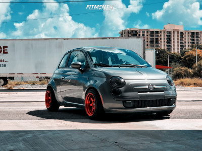 2012 Fiat 500 - 15x8 0mm - MST Time Attack - Lowering Springs - 185/55R15