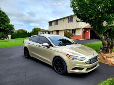 2017 Ford Fusion - 18x8 35mm - Mazzi Big Easy - Lowering Springs - 235/45R18