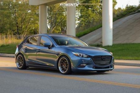 2017 Mazda 3 Sport - 18x8.25 35mm - Aodhan Ds07 - Lowering Springs - 225/40R18