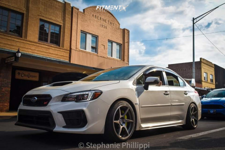 2020 Subaru WRX STI - 18x9.5 35mm - Artisa ArtFormed Titan - Coilovers - 245/35R18