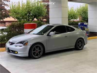 2002 Acura RSX - 18x8.5 35mm - Aodhan Ah08 - Coilovers - 215/40R18