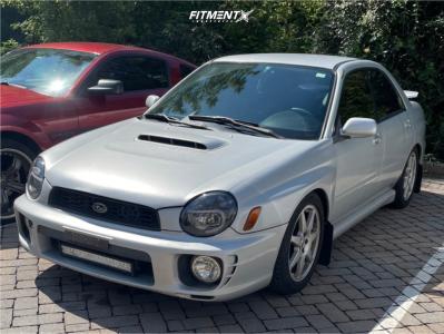 2003 Subaru Impreza - 17x8 40mm - Prodrive Pff7 - Coilovers - 215/50R17