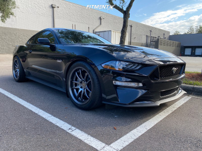 2020 Ford Mustang - 19x9.5 22mm - Aodhan Ds02 - Lowering Springs - 275/40R19