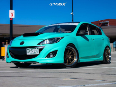 2012 Mazda 3 - 18x9 22mm - Aodhan Ds07 - Coilovers - 225/40R18