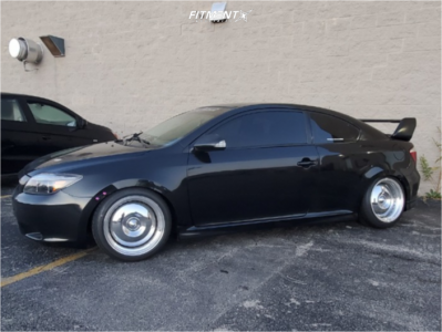 2006 Scion tC - 17x9 13mm - Work Leadsled - Coilovers - 215/40R17