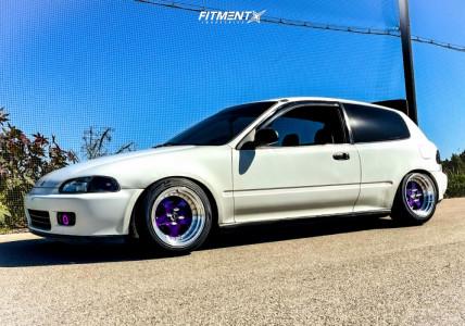 1993 Honda Civic - 15x9 0mm - JNC Jnc003 - Coilovers - 205/50R15