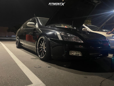 2006 Honda Accord - 18x9.5 30mm - Aodhan Ds02 - Coilovers - 225/40R18