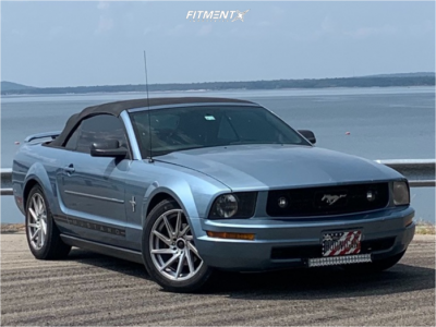 2006 Ford Mustang - 18x8.5 35mm - F1R F29 - Stock Suspension - 235/50R18
