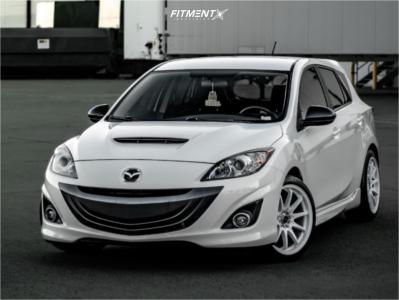 2013 Mazda 3 - 18x8.5 35mm - Jnc Jnc006 - Stock Suspension - 225/40R18