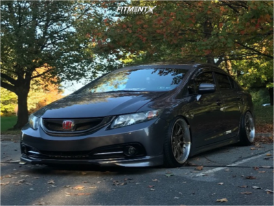 2014 Honda Civic - 18x9.5 22mm - Aodhan Ds07 - Coilovers - 215/35R18