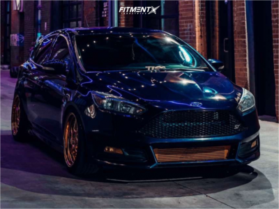 2017 Ford Focus - 18x8.5 35mm - Aodhan Ds01 - Coilovers - 235/40R18