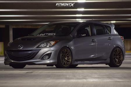 2013 Mazda 3 - 18x8.5 33mm - AVID1 Av20 - Coilovers - 225/40R18