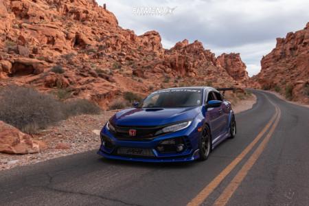 2019 Honda Civic - 18x9.5 45mm - Volk Te37sl - Lowering Springs - 275/35R18