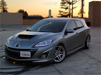 2012 Mazda 3 - 18x8.5 30mm - ESR Rf15 - Coilovers - 225/40R18