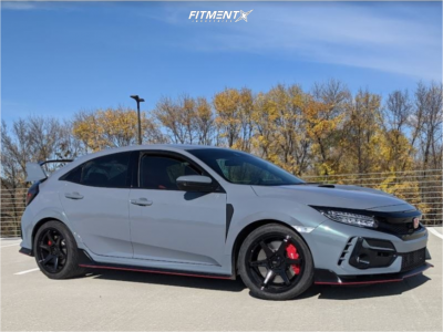 2020 Honda Civic - 18x9.5 45mm - Enkei T6r - Stock Suspension - 265/35R18