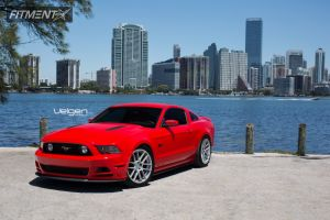 2014 Ford Mustang - 20x9 32mm - Velgen VMB6 - Lowered on Springs - 275/35R20