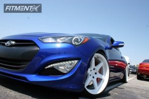 2013 Hyundai Genesis Coupe - 19x9.5 22mm - Varrstoen 2.2.2 - Lowered Adj Coil Overs - 245/35R19