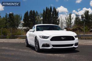 2015 Ford Mustang - 20x9 32mm - Velgen VMB9 - Lowered on Springs - 255/35R20