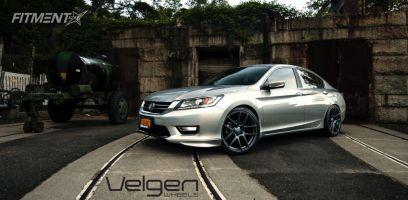2013 Honda Accord - 20x9 35mm - Velgen VMB5 - Lowered on Springs - 245/35R20