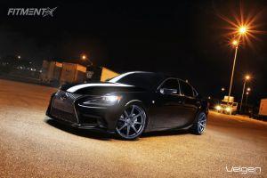2013 Lexus IS250 - 20x9 35mm - Velgen VMB8 - Lowered Adj Coil Overs - 235/30R20