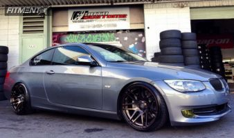 2011 BMW 335i - 19x9.5 20mm - Forgestar F14 - Lowered Adj Coil Overs - 225/35R19