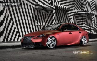 2014 Lexus IS250 - 20x10 25mm - K3 Projekt AC5 - Lowered Adj Coil Overs - 235/30R20