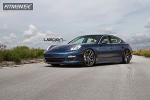 2012 Porsche Panamera - 22x9 45mm - Velgen Vmb5 - Lowered on Springs - 265/30R22