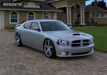 """2006 Dodge Charger - 22x9 38mm - Vossen Cv3r - Dropped 1-3"""" - 265/30R22"""