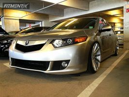 2009 Acura TSX - 20x10.5 45mm - Vossen CV4 - Lowered Adj Coil Overs - 255/30R20